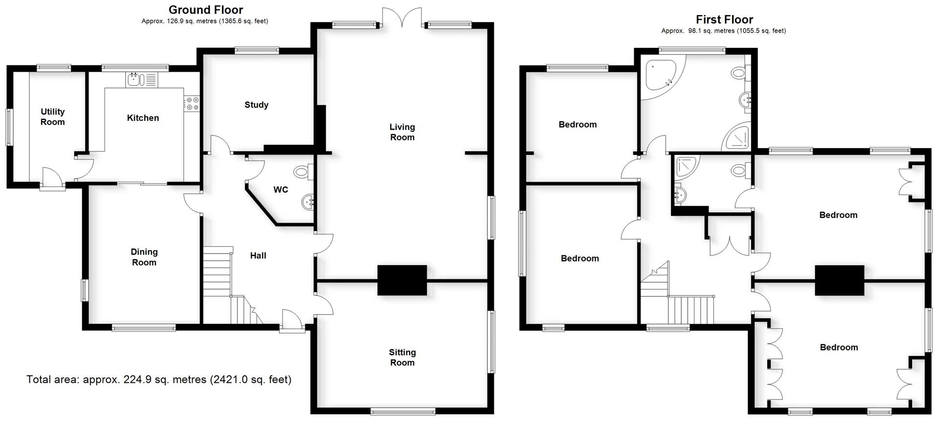 Floorplans For Church Walk, Bilton, Rugby