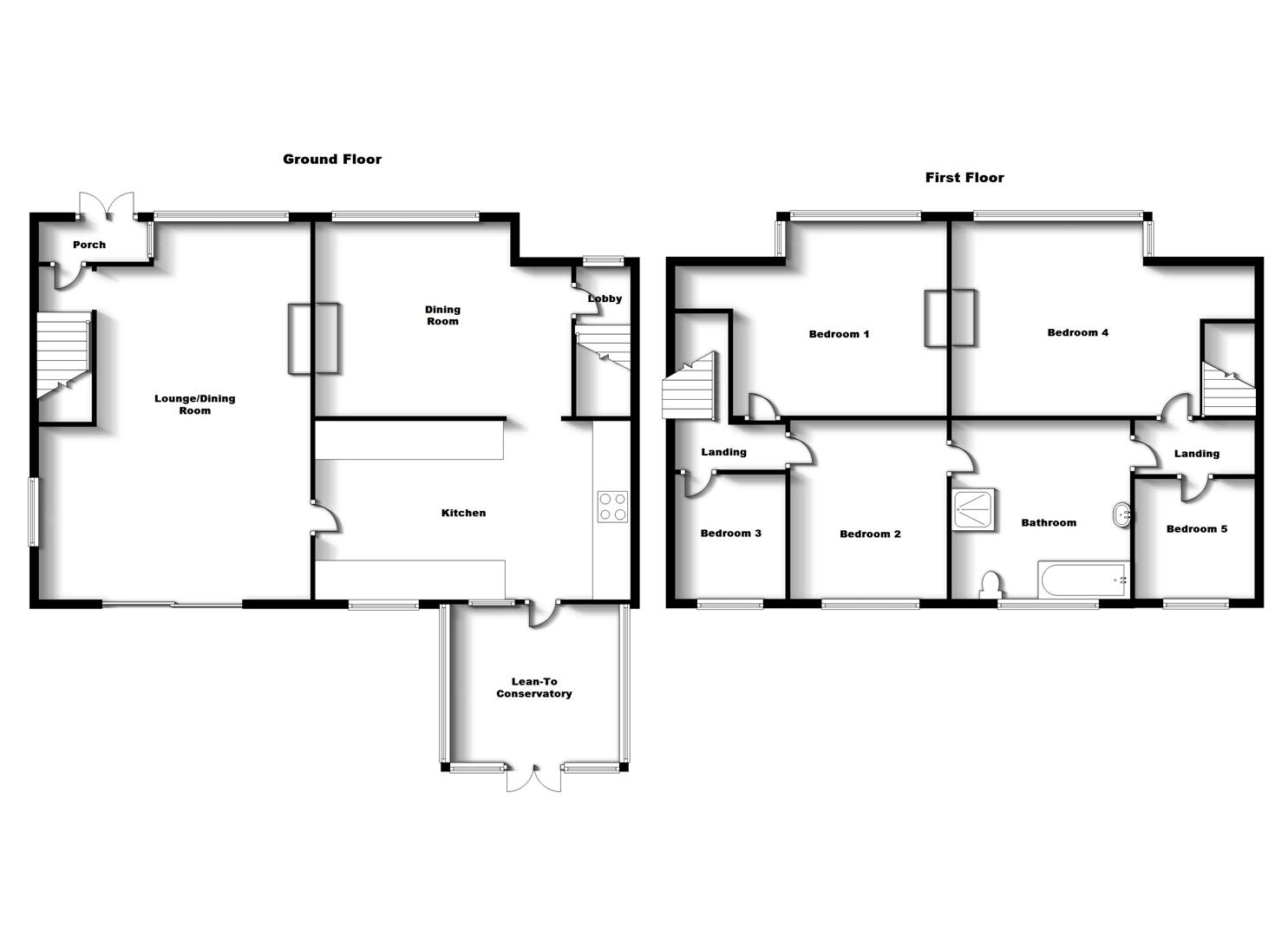 Floorplans For Balcombe Road, Rugby