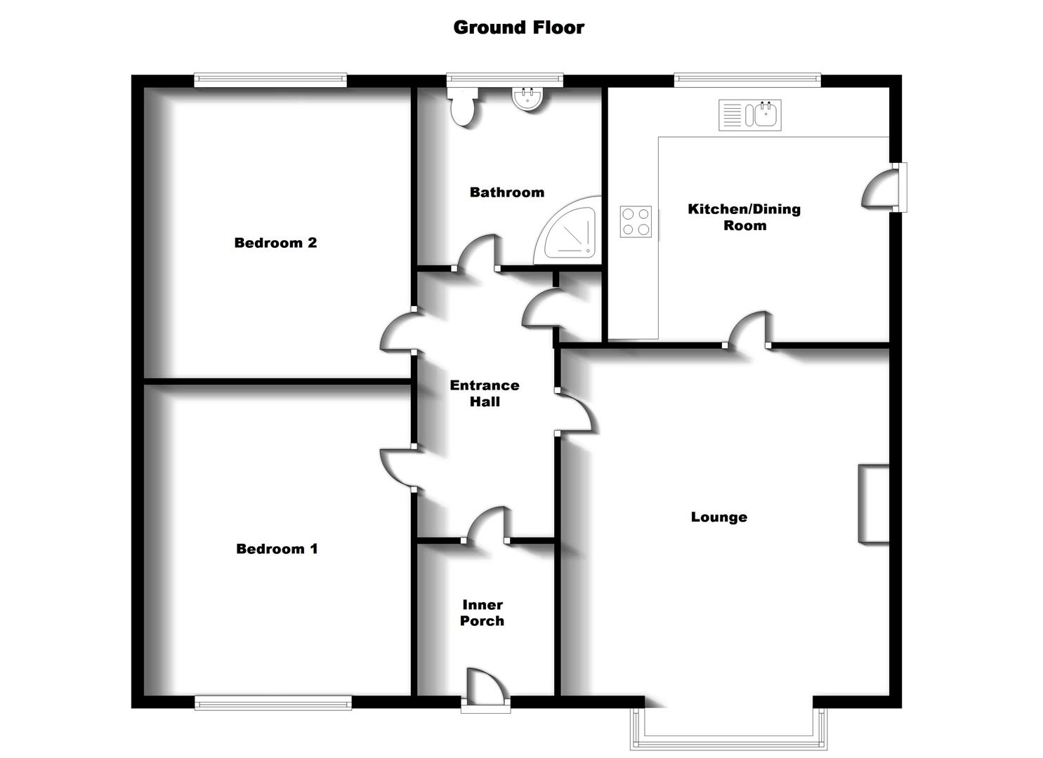 Floorplans For Larch Close, Bilton, Rugby