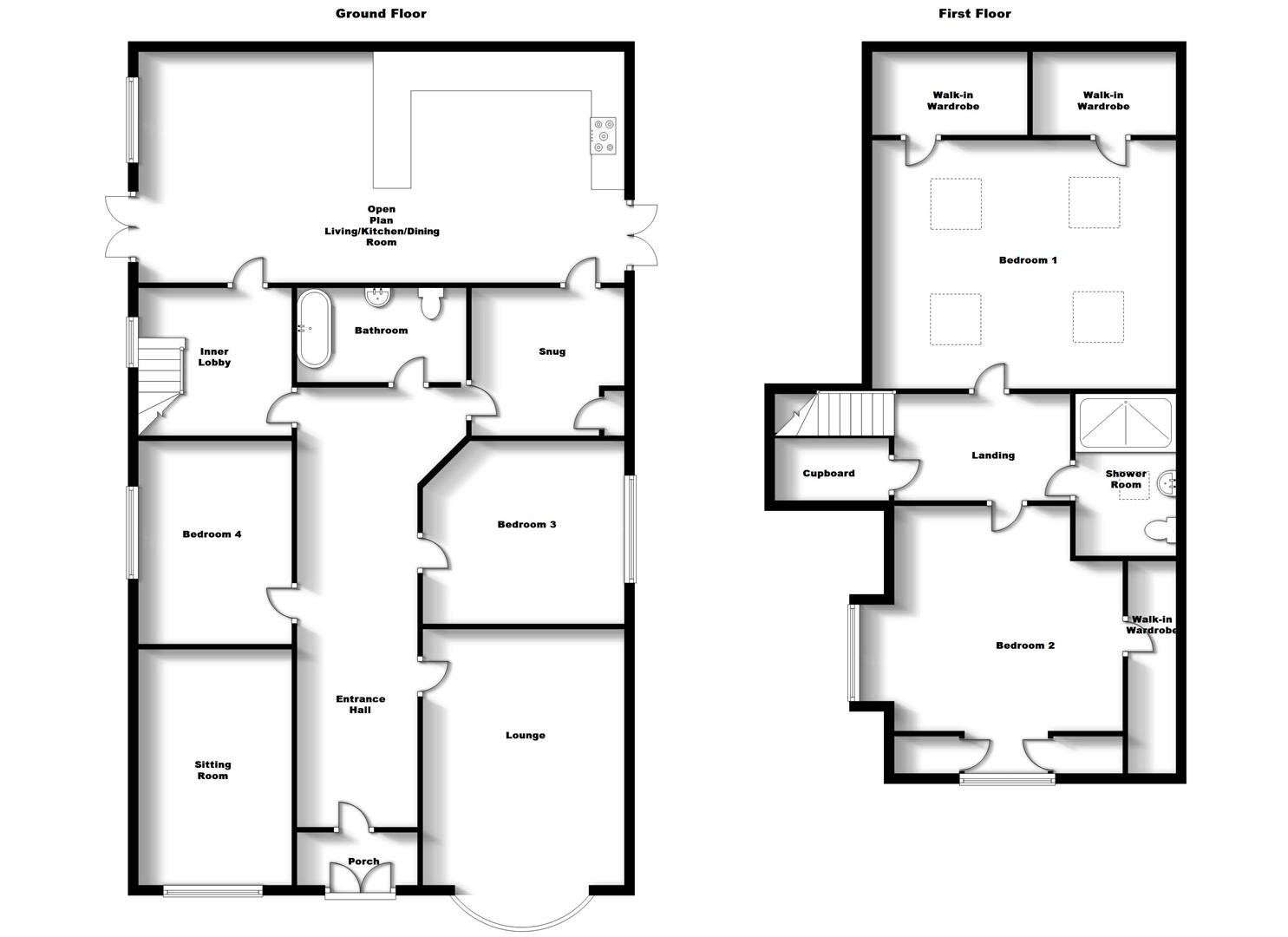 Floorplans For Barton Road, Bilton, Rugby