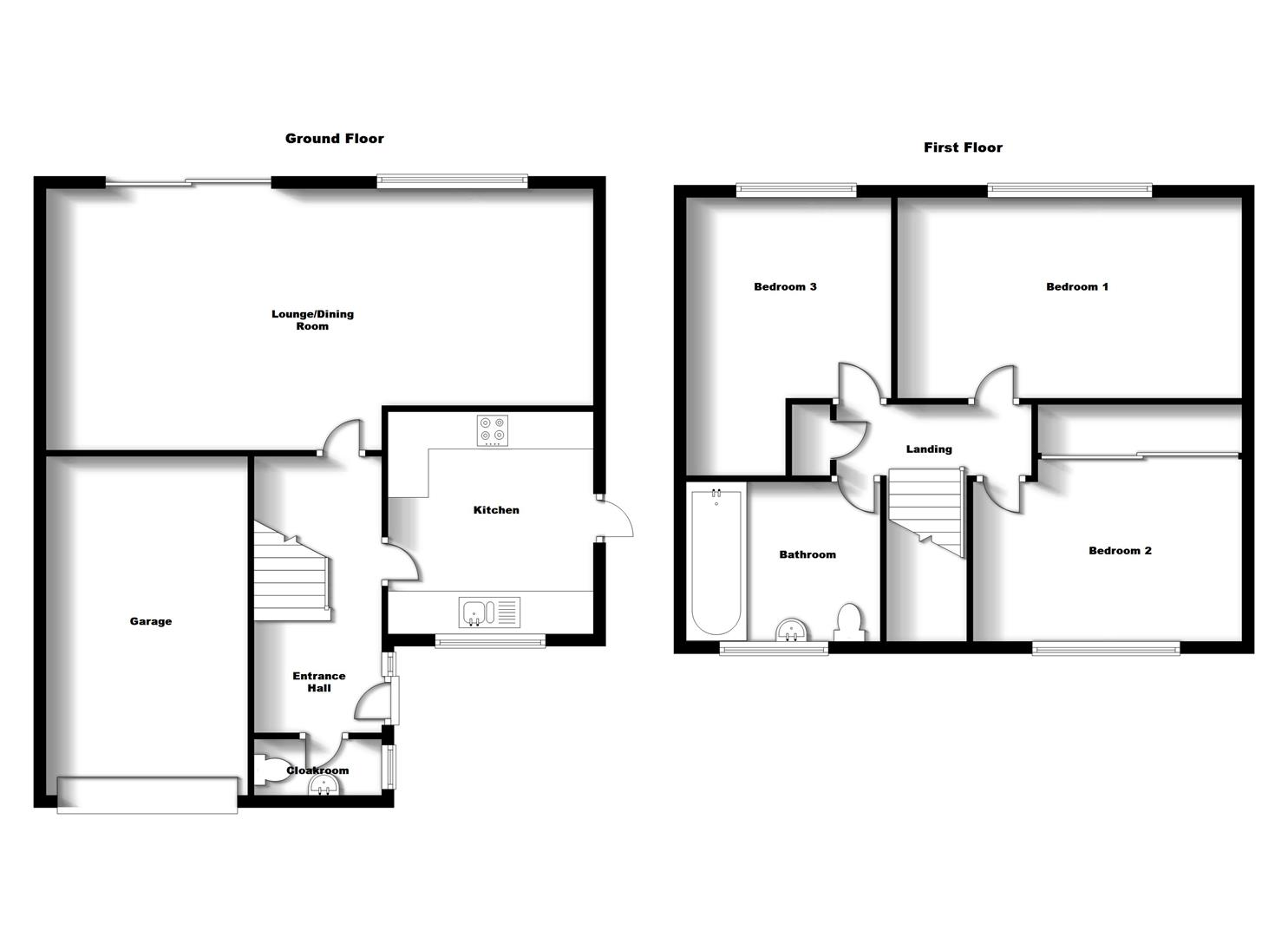 Floorplans For May Lane, Bilton, Rugby