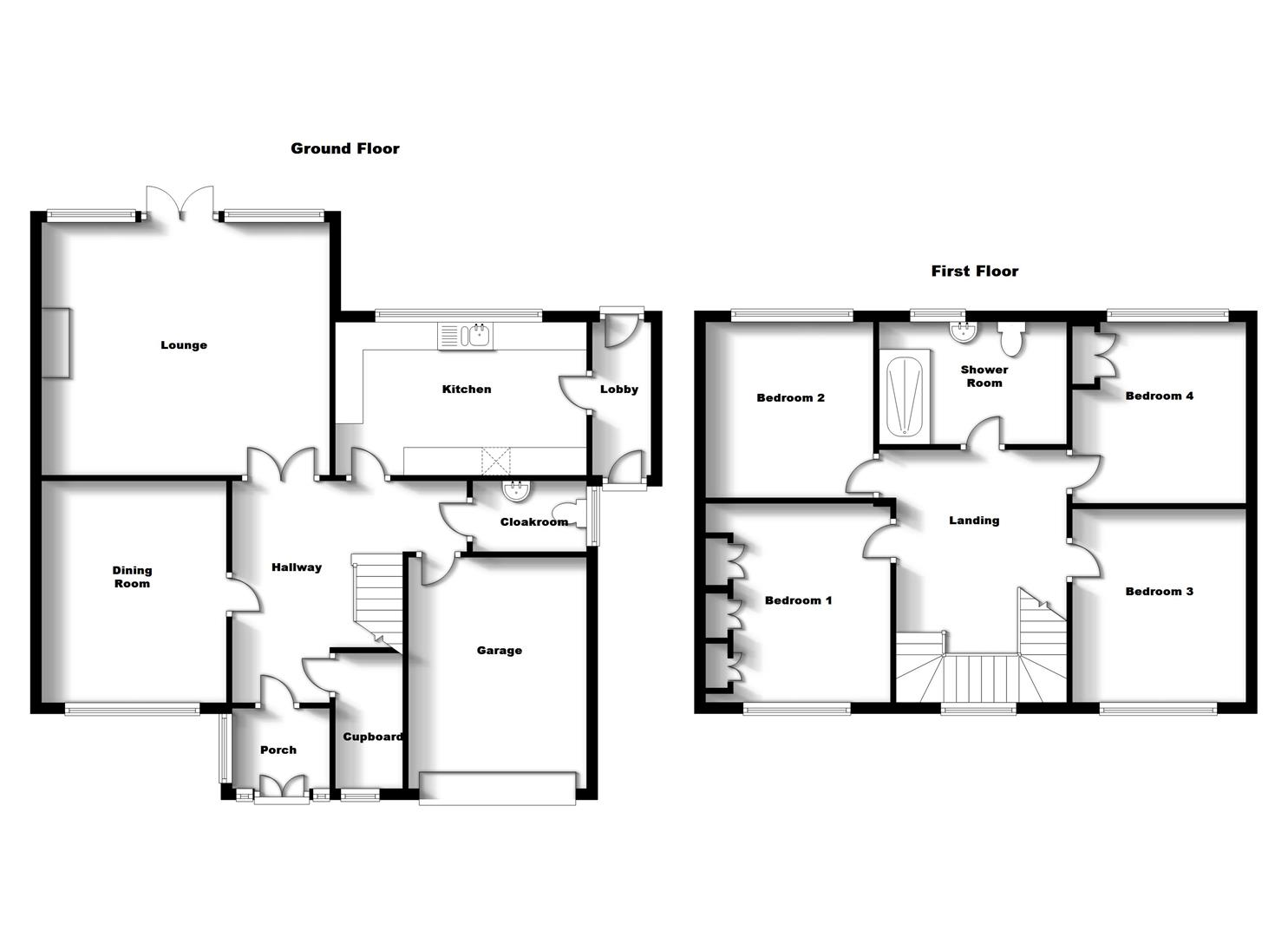 Floorplans For Dunchurch Road, Rugby