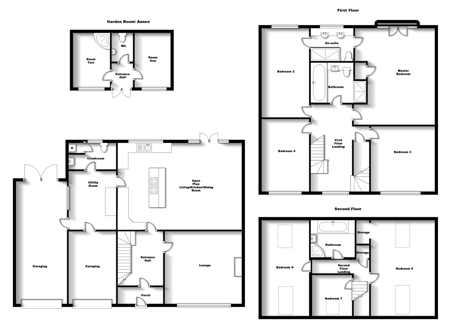 Floorplans For Rugby Road, Dunchurch, Rugby