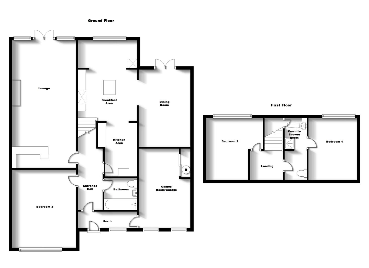 Floorplans For Orchard Way, Bilton, Rugby