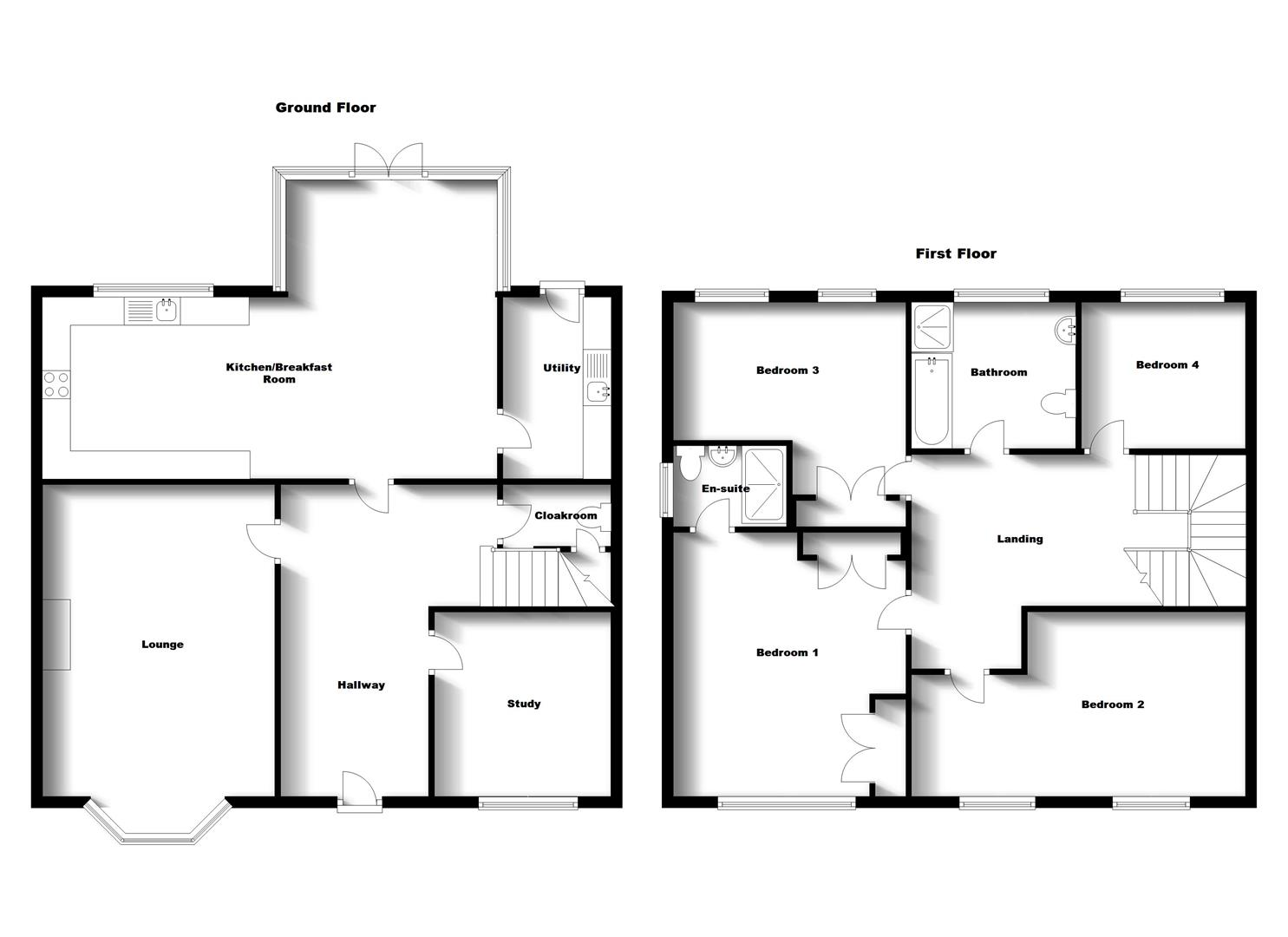 Floorplans For Betony Road, Coton Meadows, Rugby