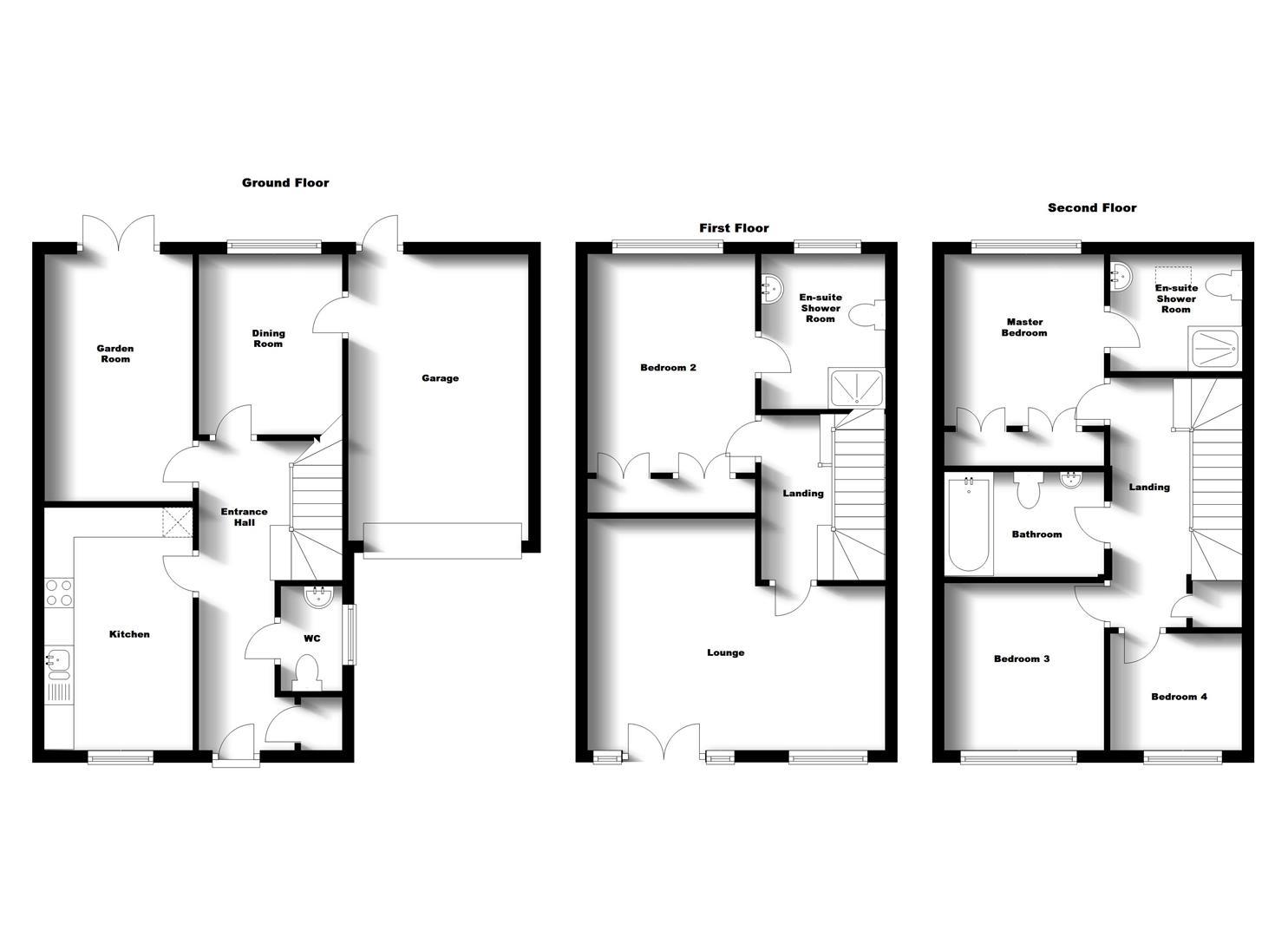 Floorplans For Woodleigh Road, Long Lawford, Rugby