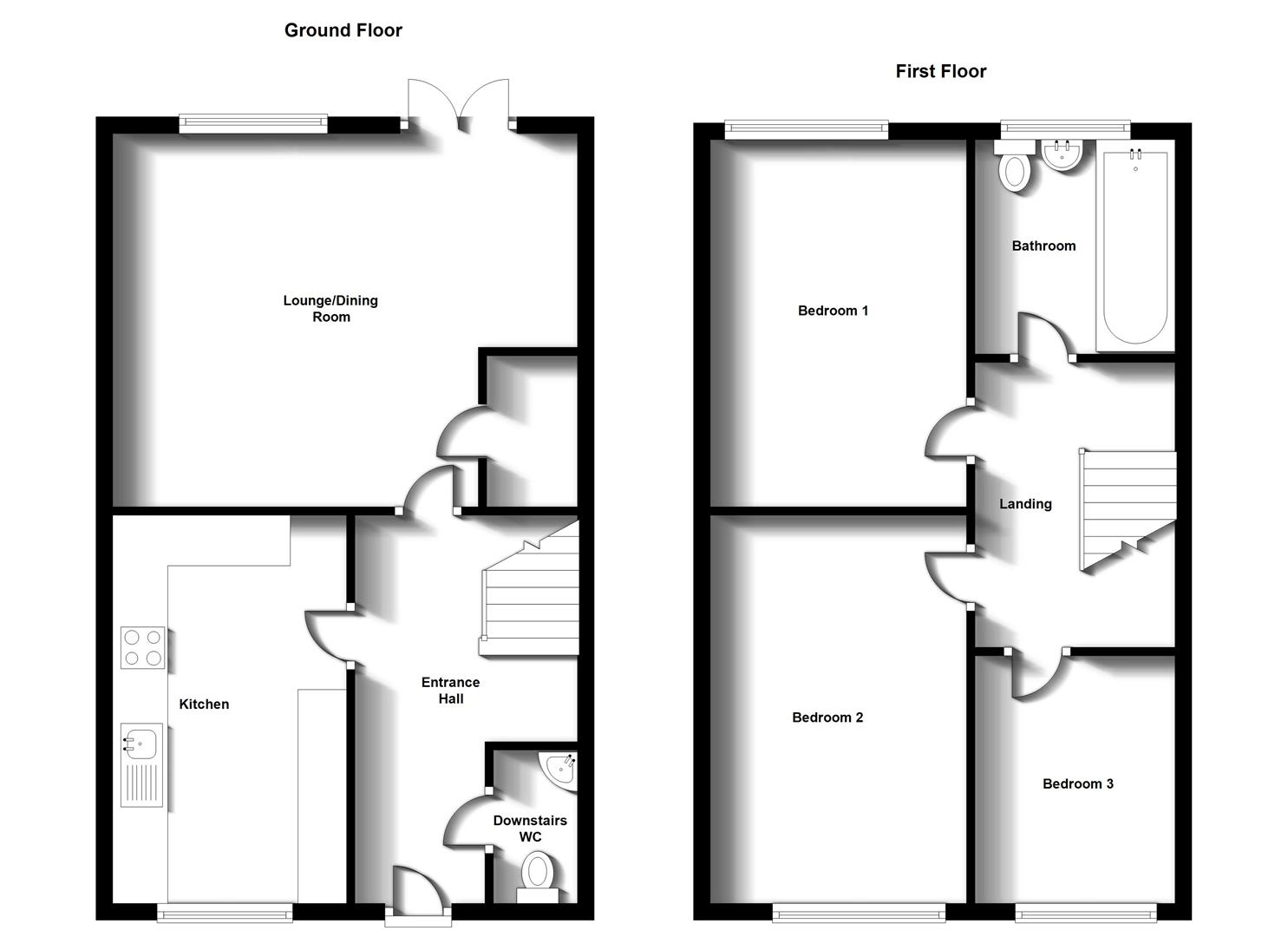 Floorplans For Callier Close, Cawston, Rugby