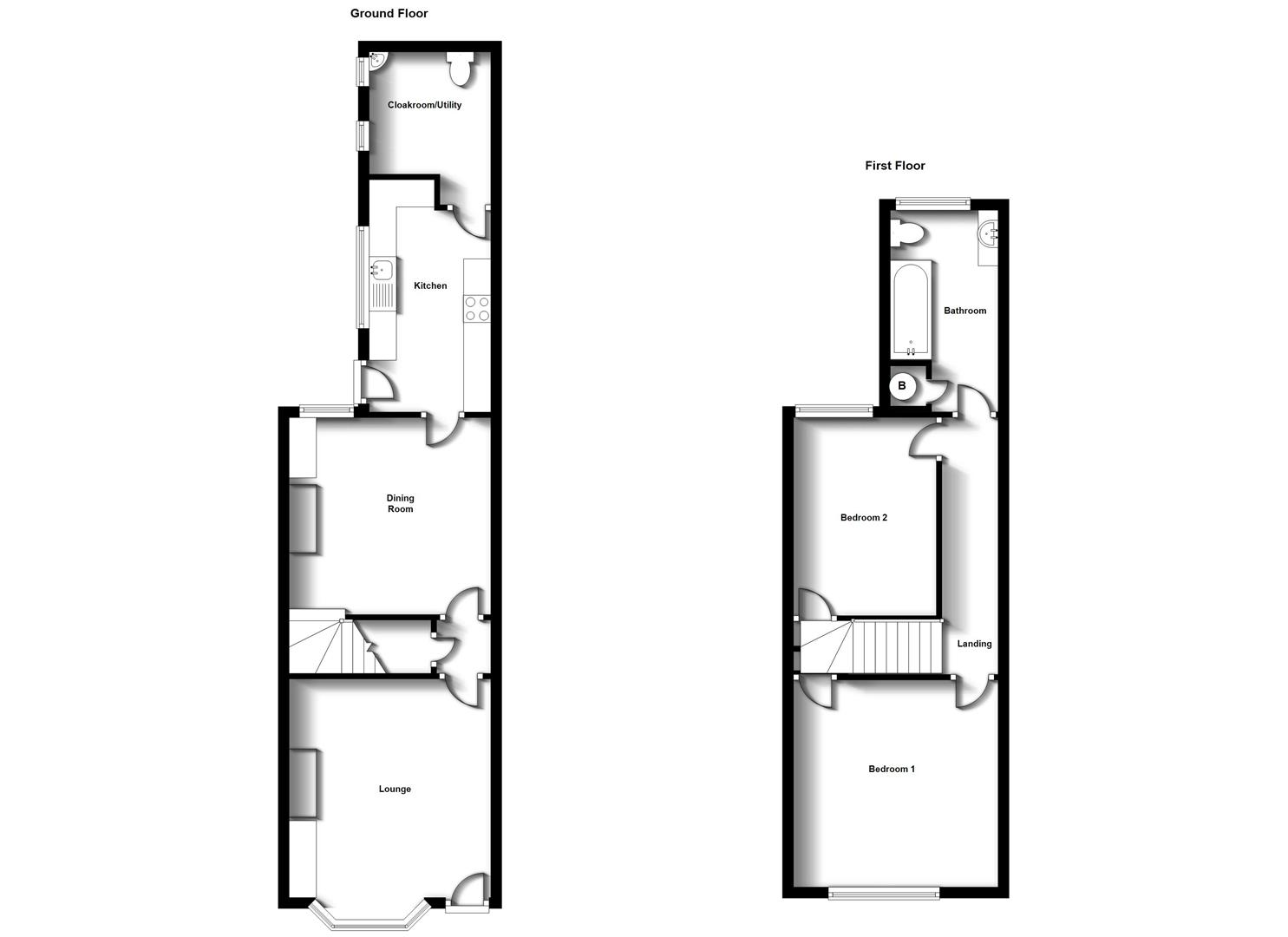 Floorplans For Worcester Street, Town Centre, Rugby