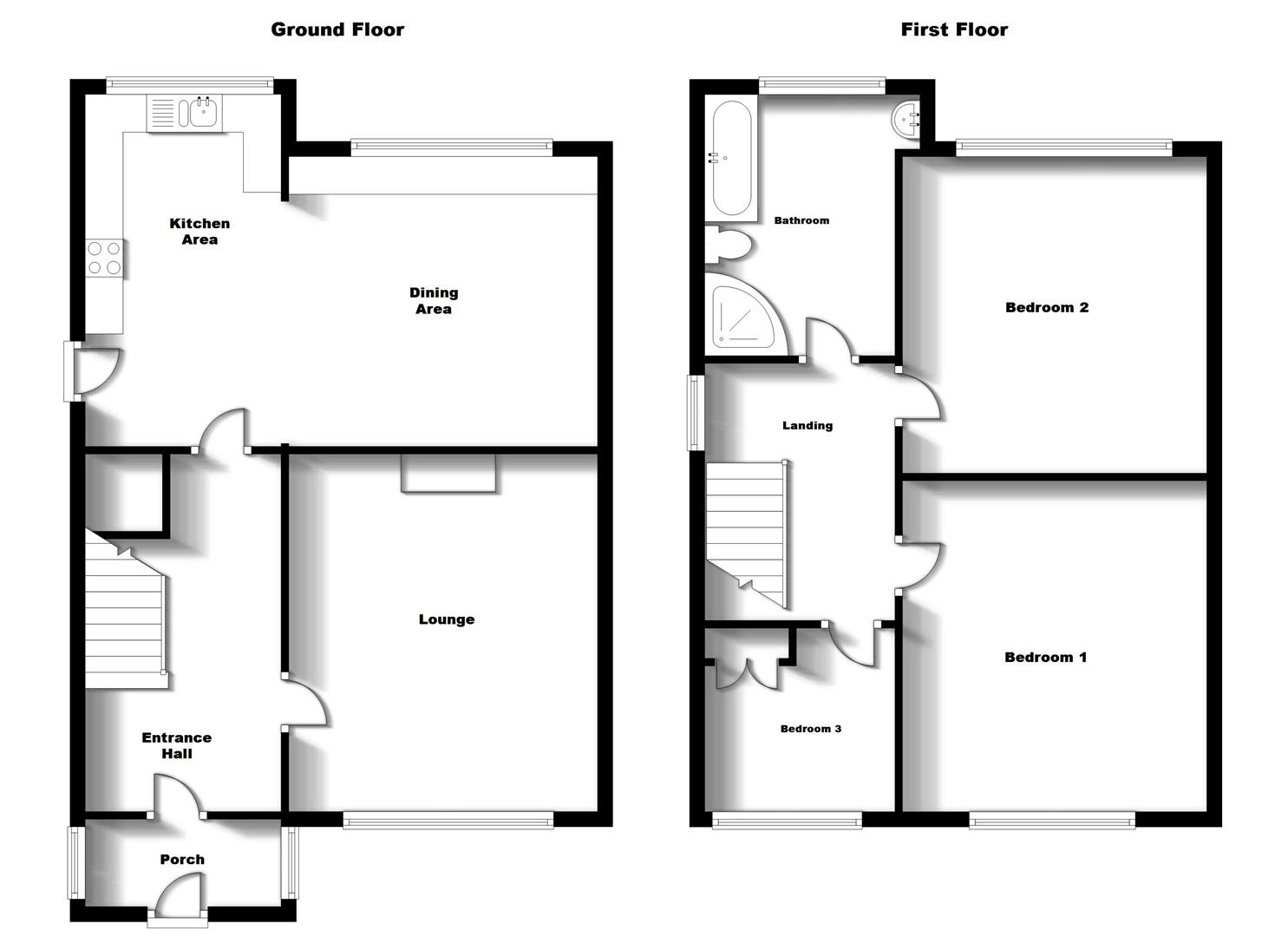 Floorplans For Addison Road, Bilton, Rugby