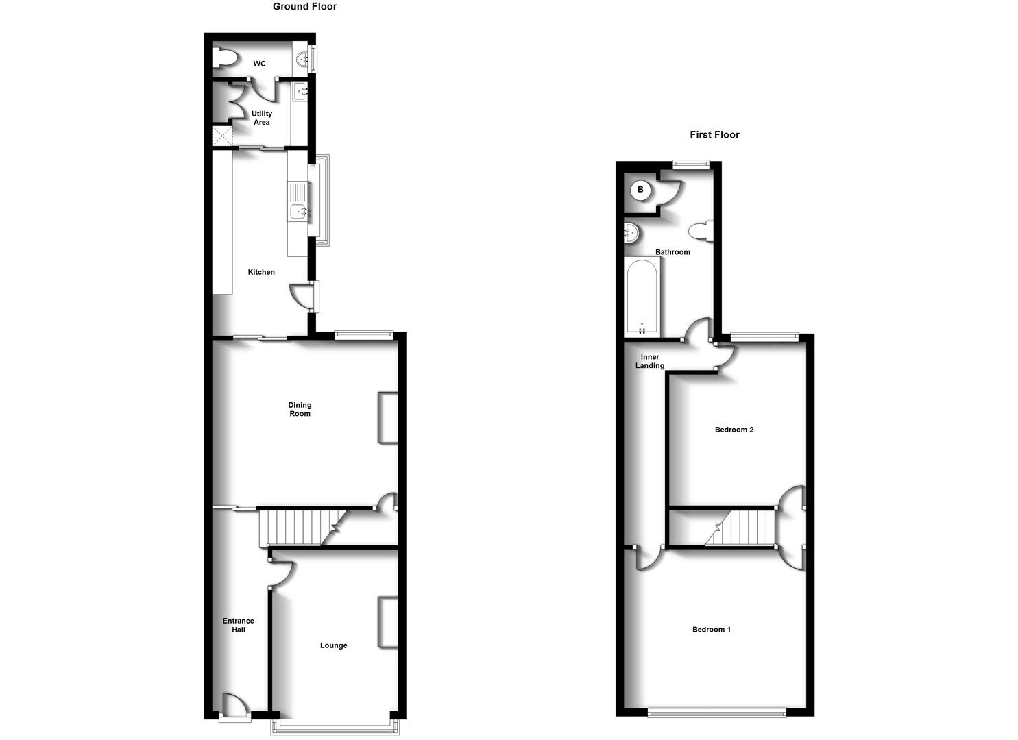 Floorplans For Cambridge Street, Town Centre, Rugby