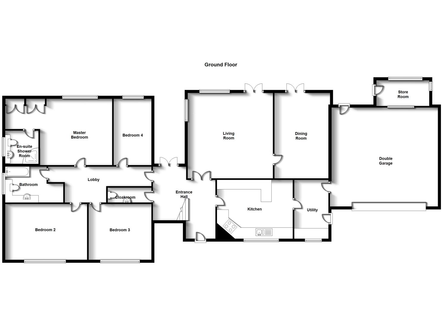 Floorplans For Gable Close, Bilton, Rugby