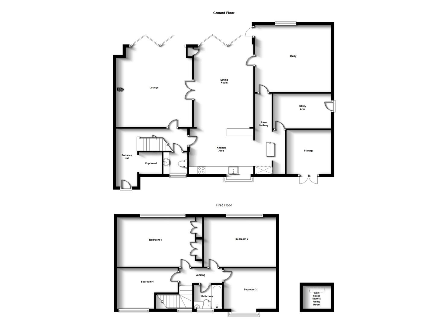 Floorplans For Brafield Leys, Hillside, Rugby