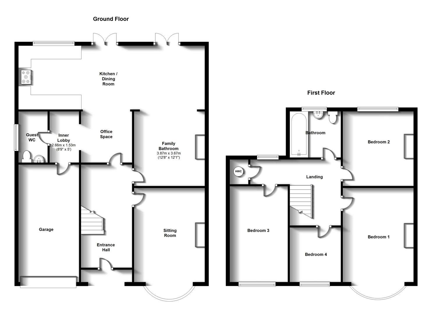 Floorplans For Cromwell Road, Rugby