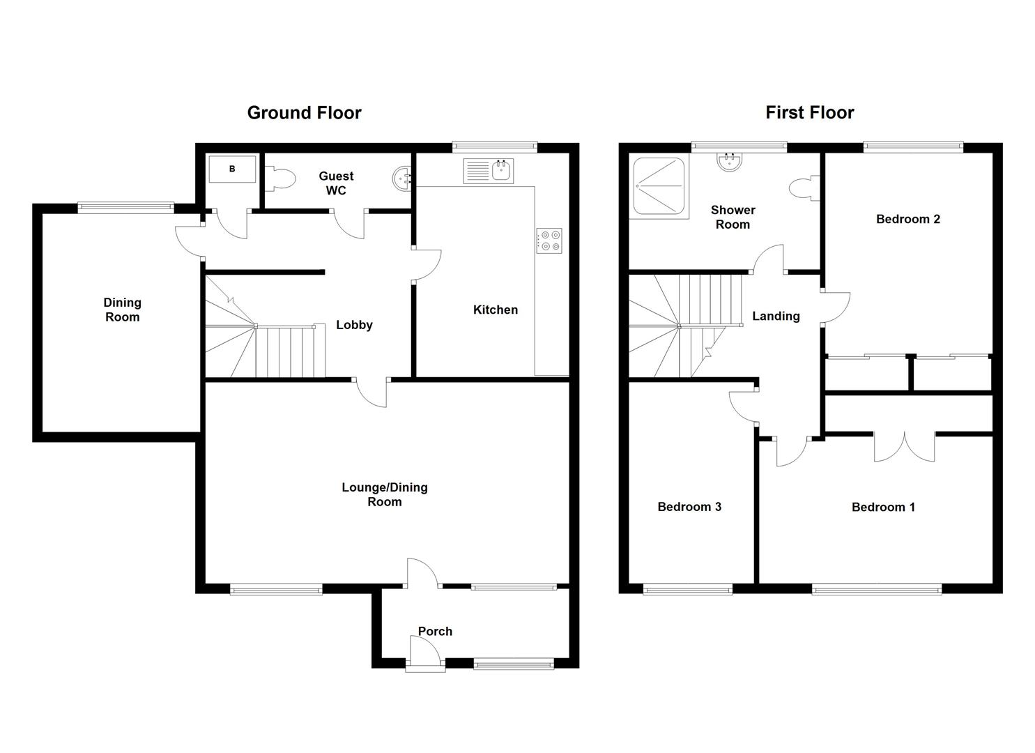 Floorplans For Cheshire Close, Bilton, Rugby