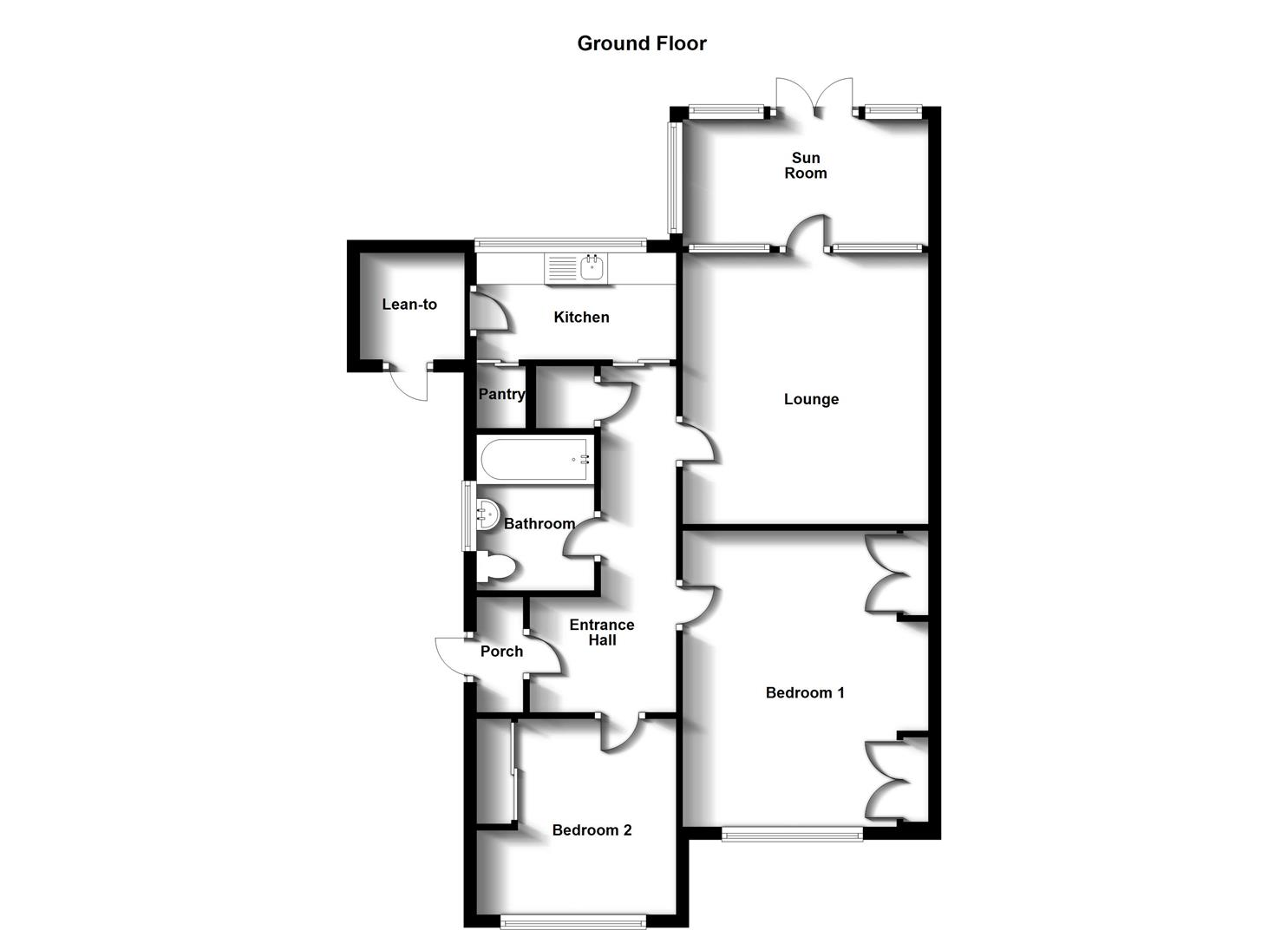 Floorplans For Lower Hillmorton Road, Hillmorton, Rugby