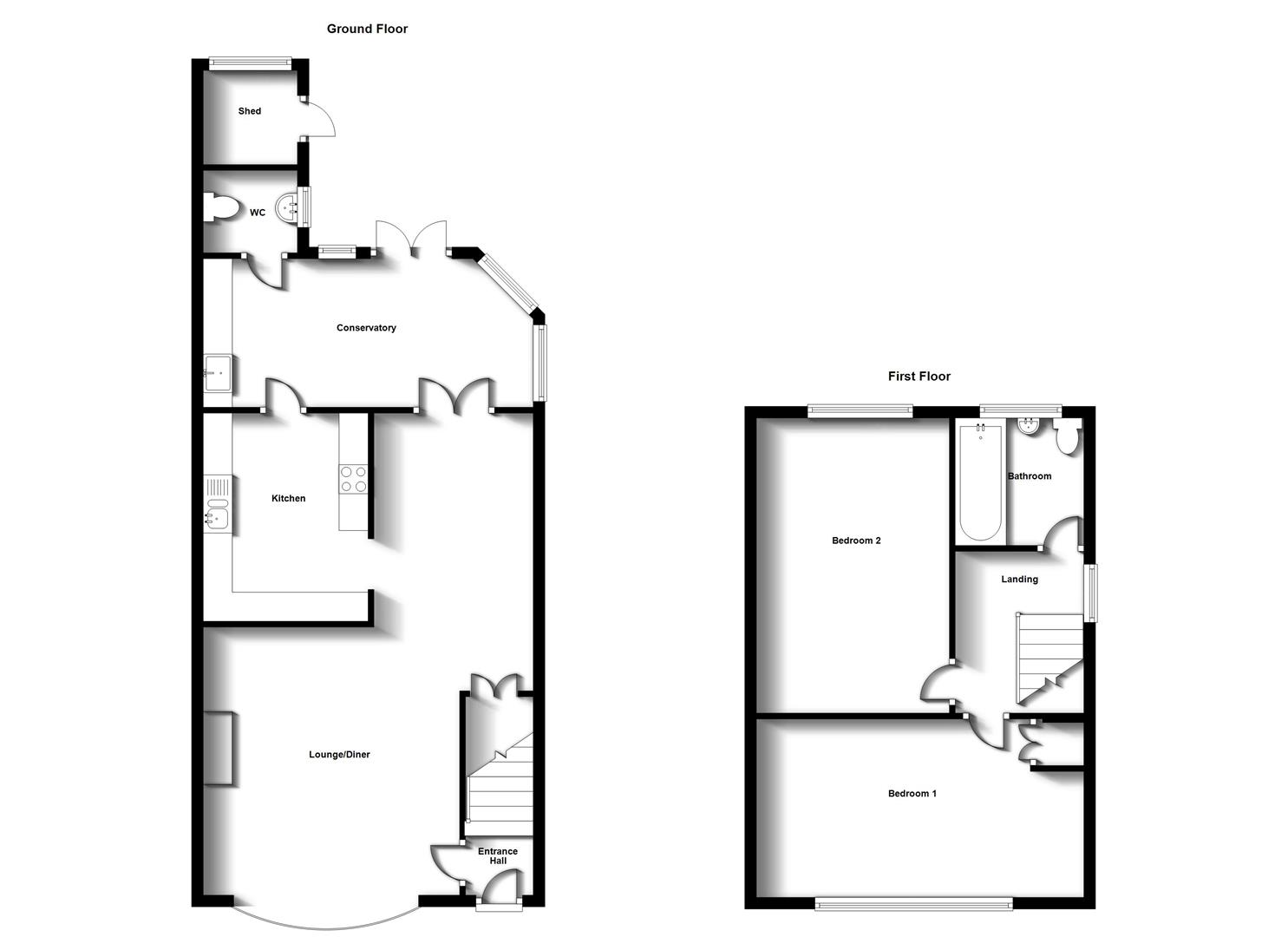 Floorplans For Croft Close, Stretton On Dunsmore, Rugby