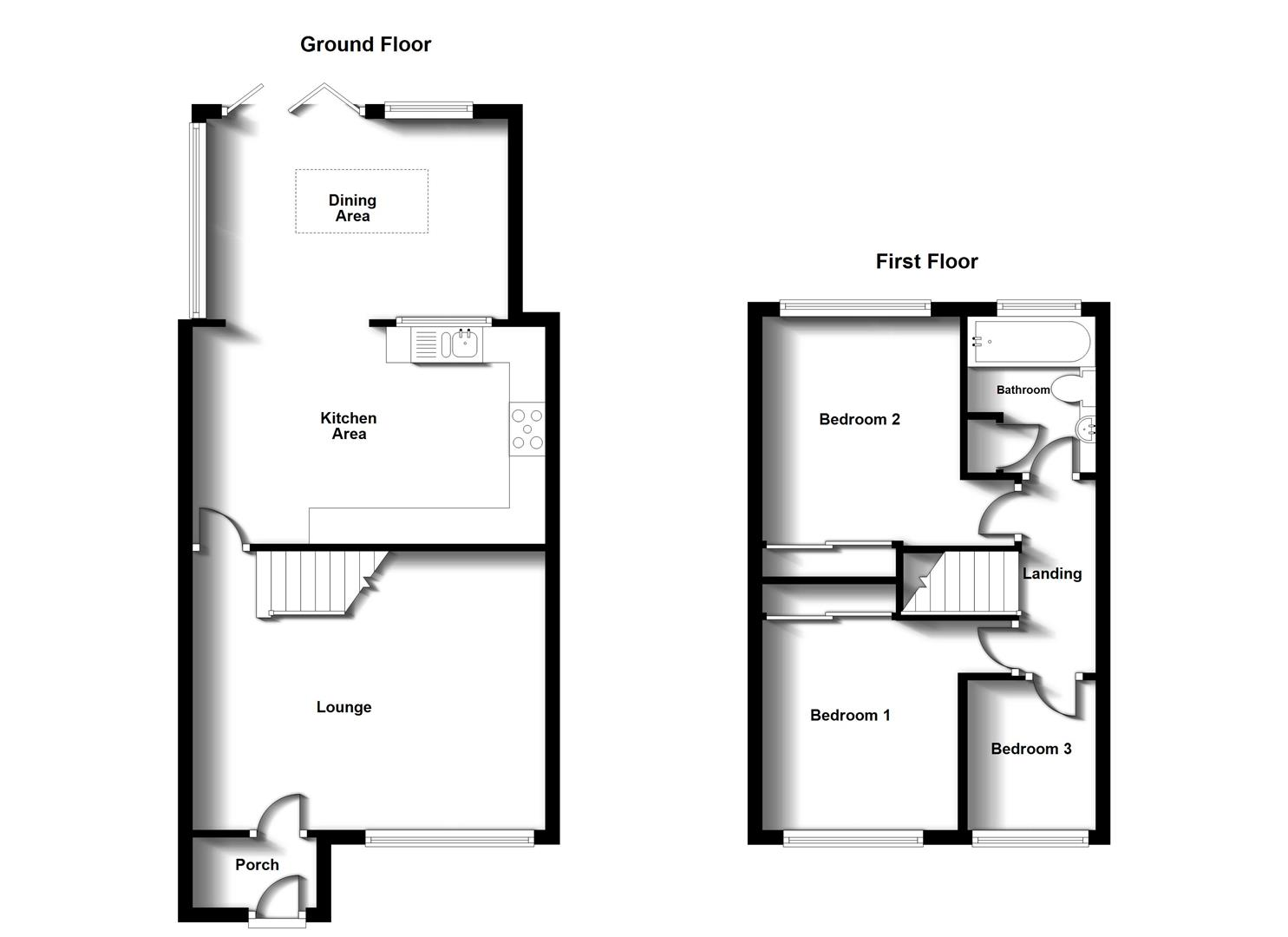 Floorplans For Dreyer Close, Bilton, Rugby
