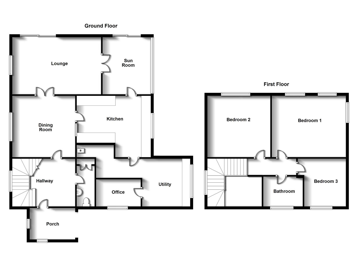 Floorplans For Church Lane, Thurlaston, Rugby
