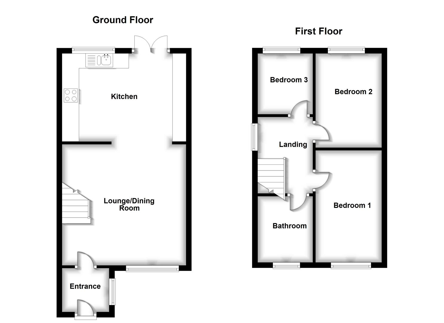 Floorplans For Armstrong Close, Bilton, Rugby