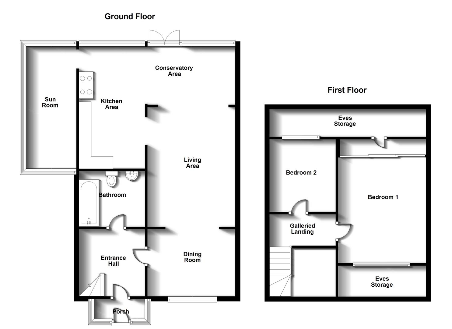 Floorplans For Firs Drive, Rugby