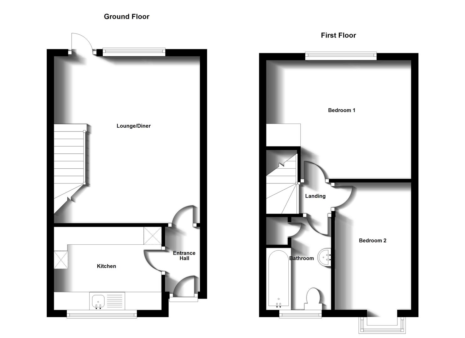 Floorplans For Madden Place, Bilton, Rugby