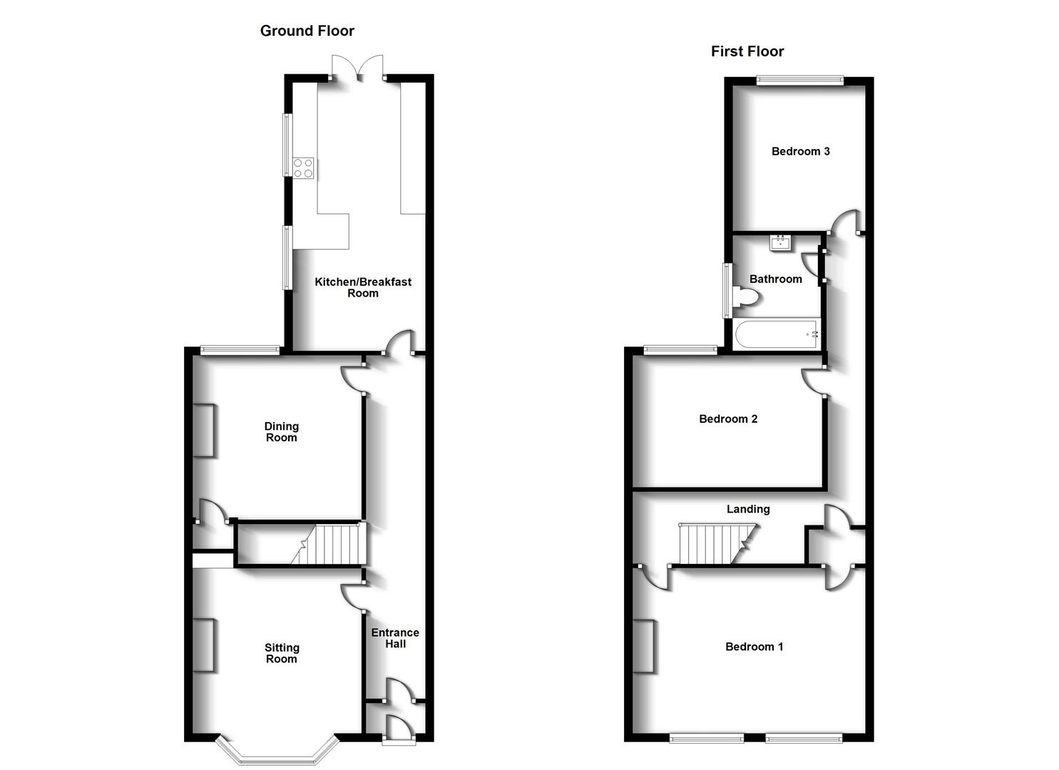 Floorplans For Claremont Road, Town Centre, Rugby