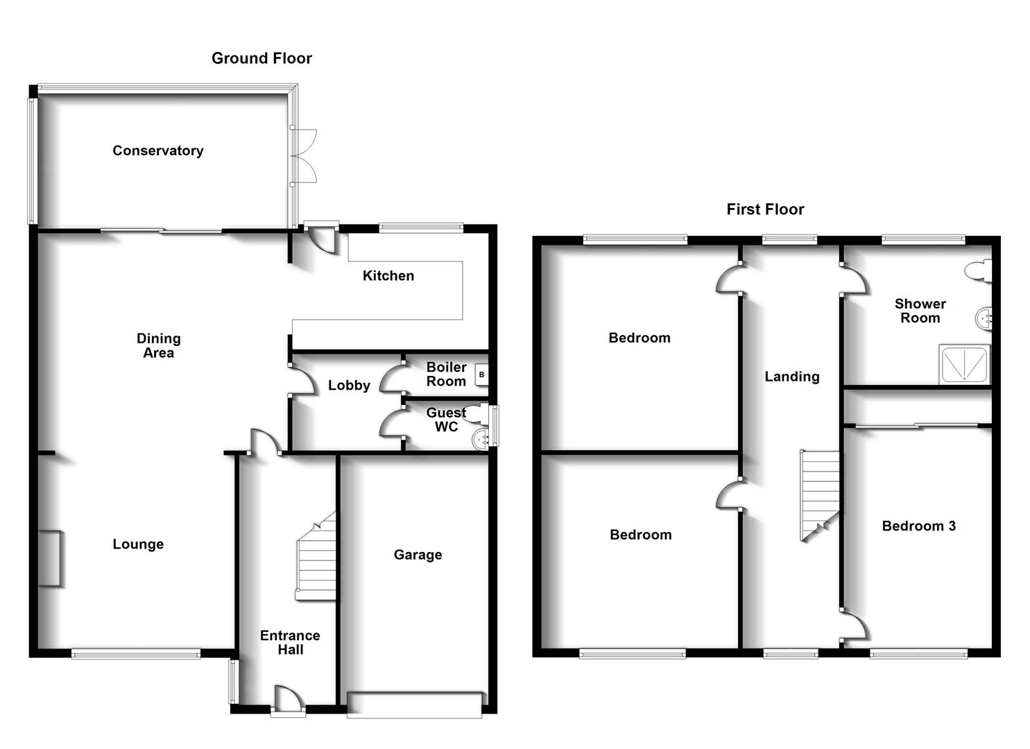 Floorplans For Dunchurch Road, Rugby, Warwickshire