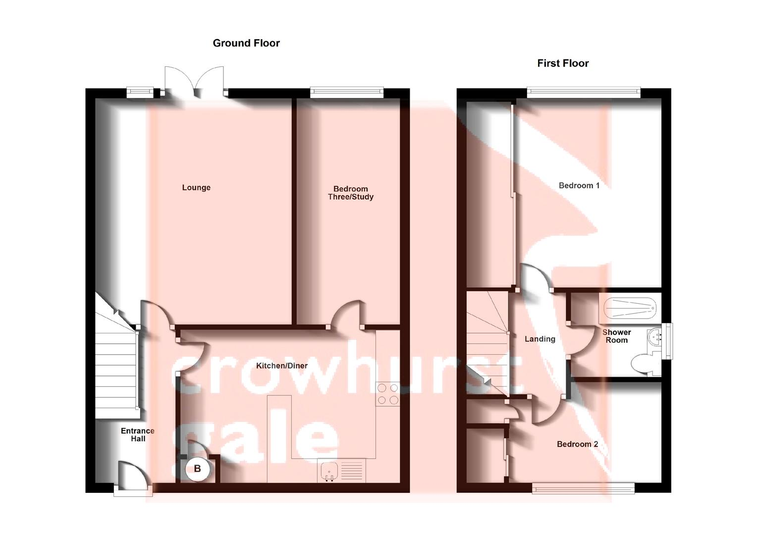 Floorplans For Anker Drive, Long Lawford, Rugby