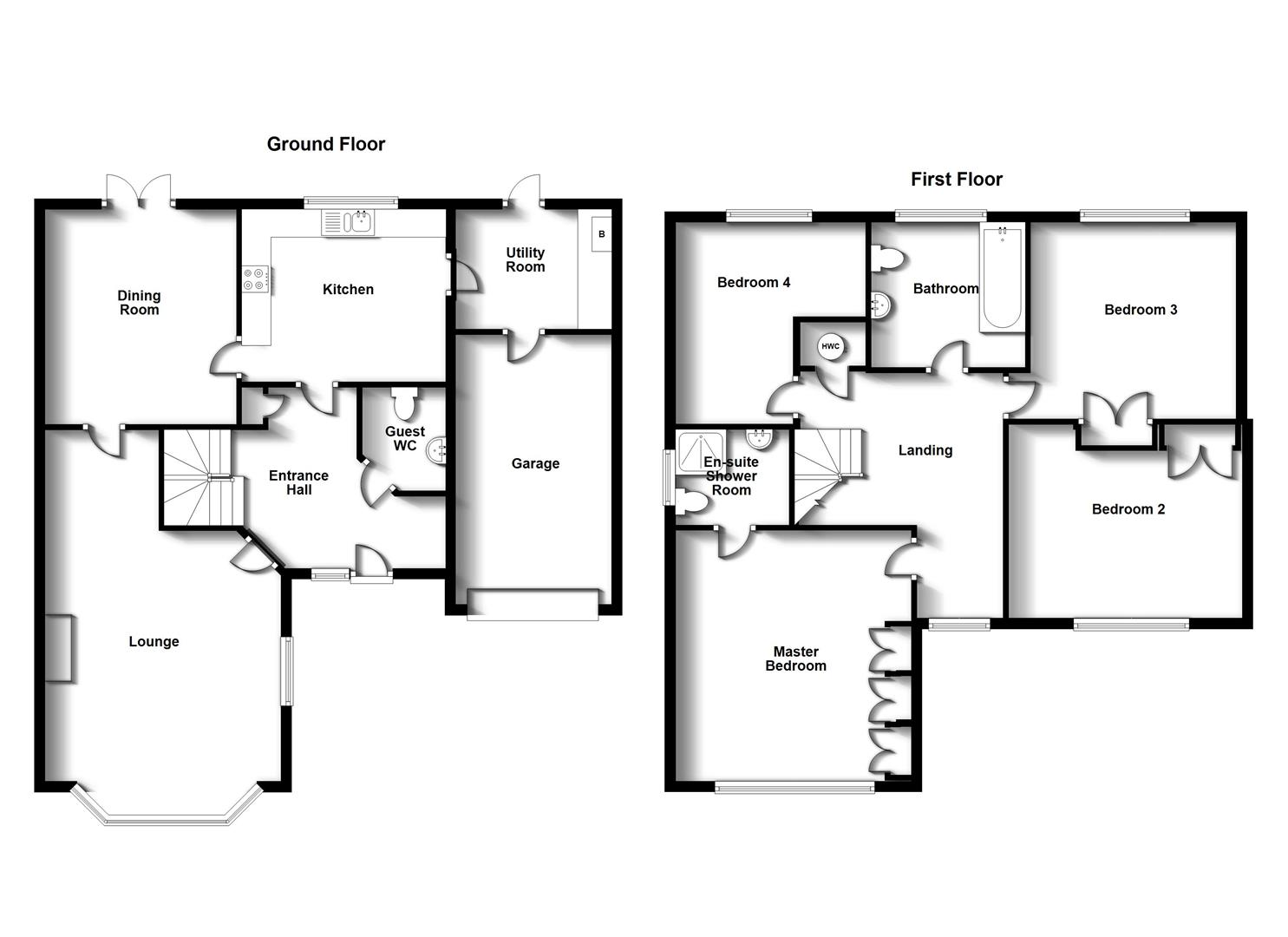 Floorplans For Spottiswood Close, Cawston, Rugby