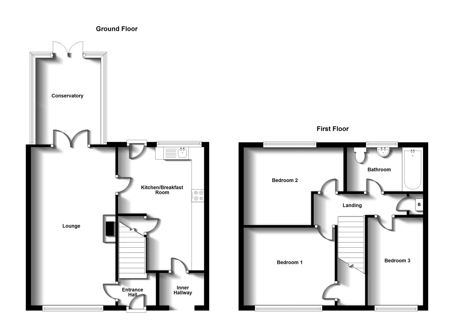 Floorplans For St. Andrews Crescent, Rugby