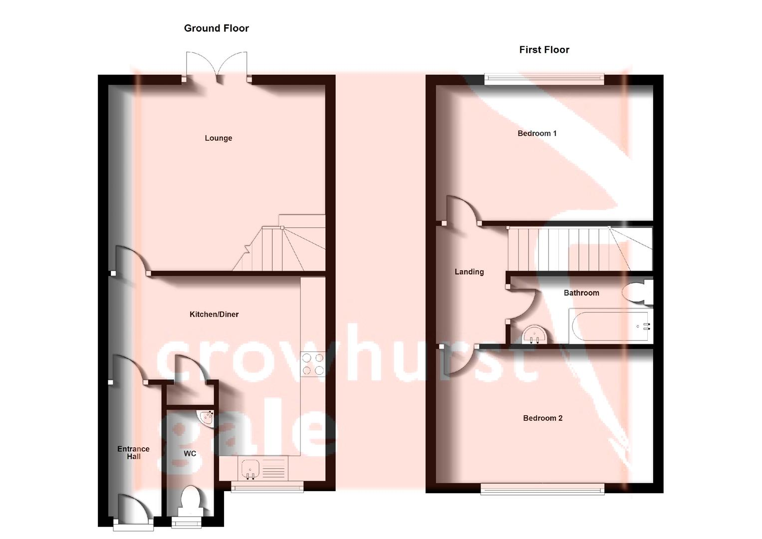 Floorplans For Willowford Close, Long Lawford, Rugby