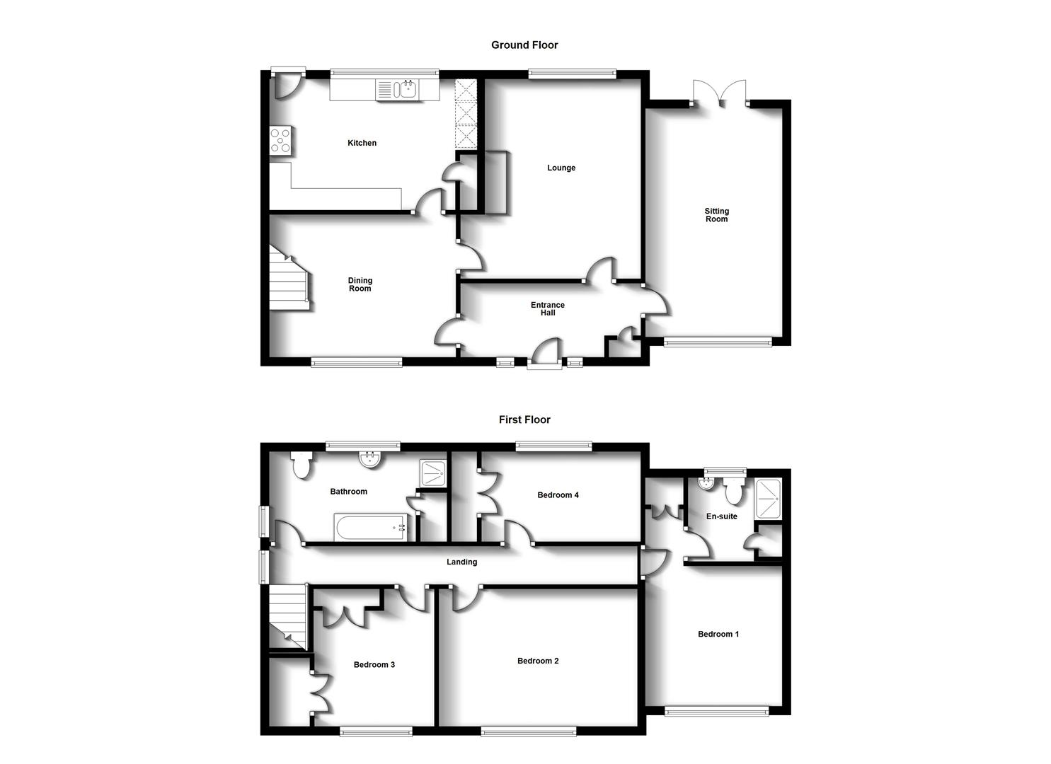 Floorplans For Whittle Close, Bilton, Rugby