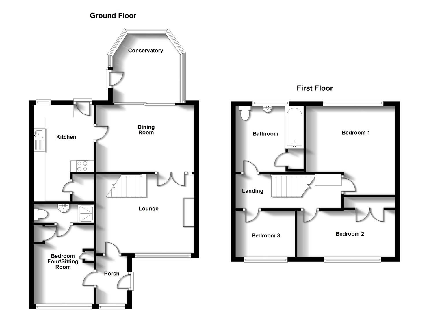 Floorplans For Norton Leys, Hillside, Rugby