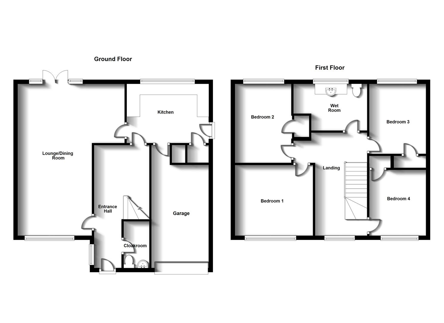 Floorplans For Montague Road, Woodlands, Rugby