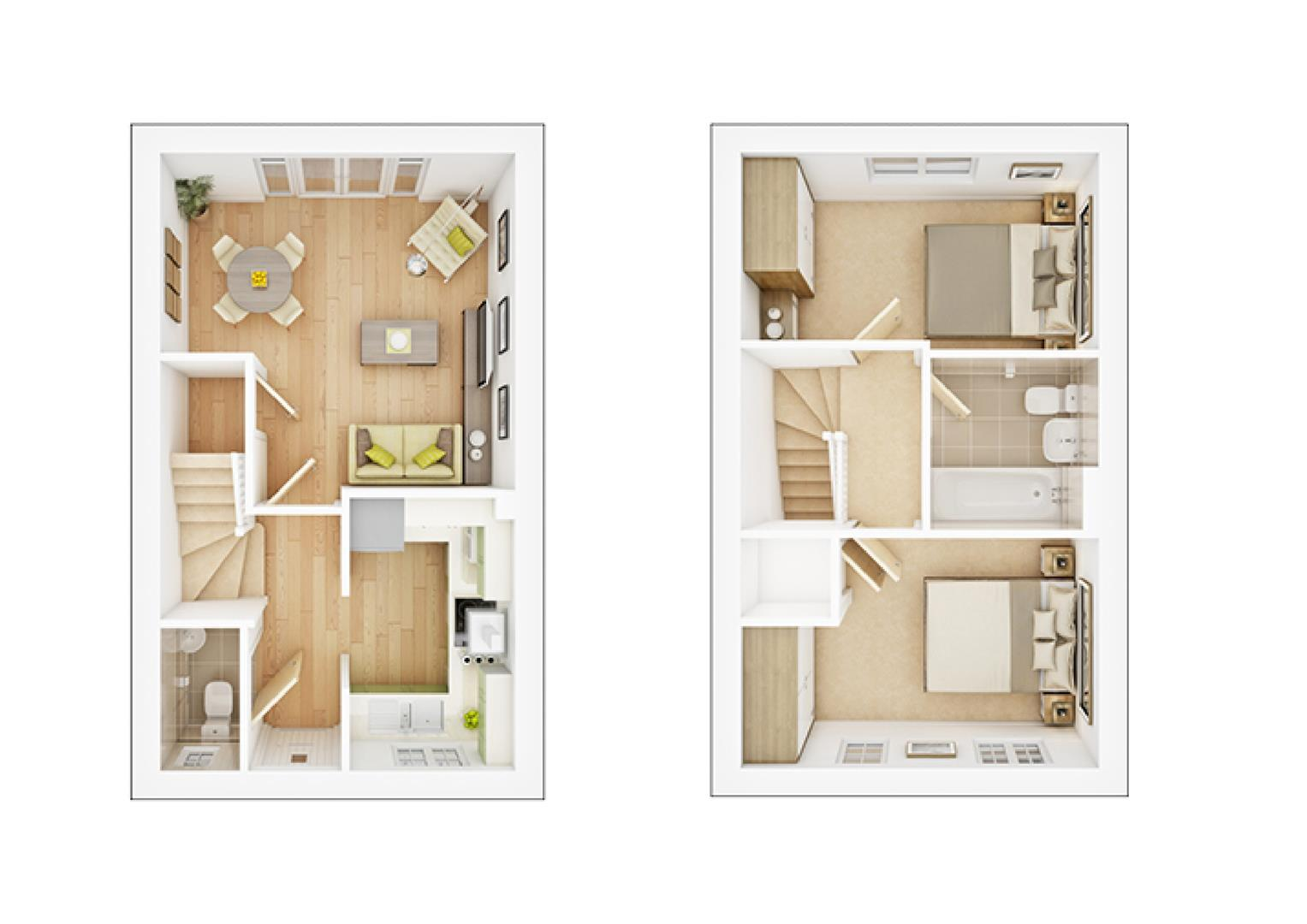 Floorplans For Stretton Close, Rugby
