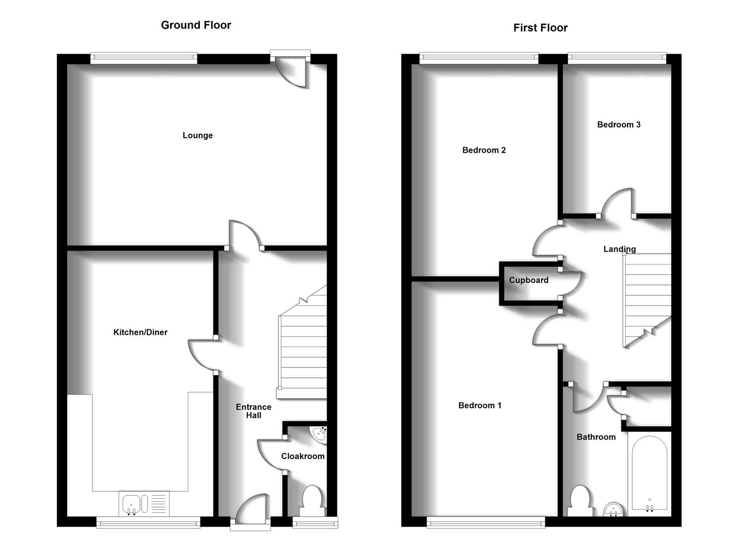 Floorplans For Crowthorns, Rugby