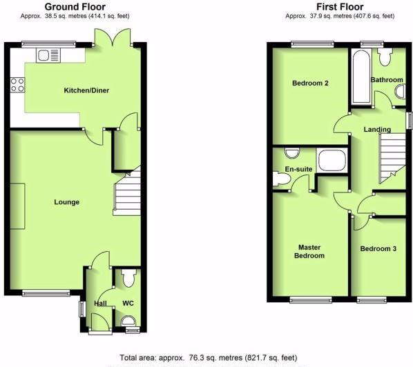 Floorplans For Viaduct Close, Rugby