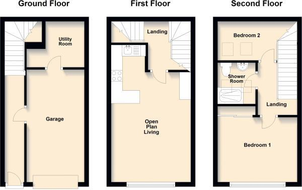 Floorplans For Beech Court, Hillmorton, Rugby