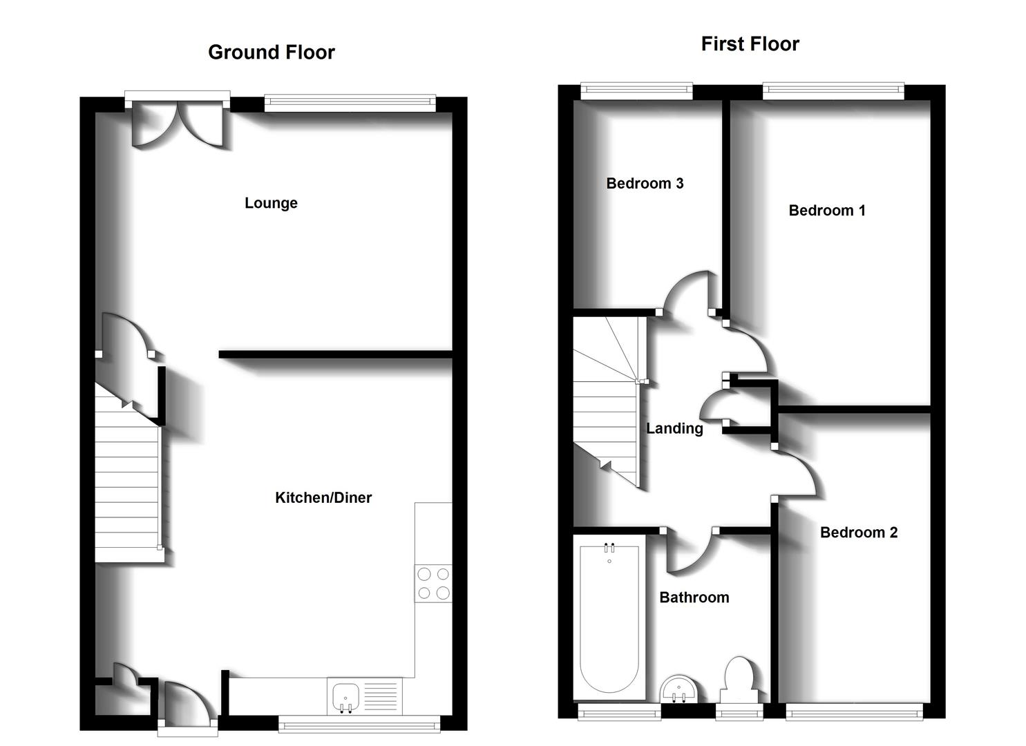 Floorplans For Selside, Rugby