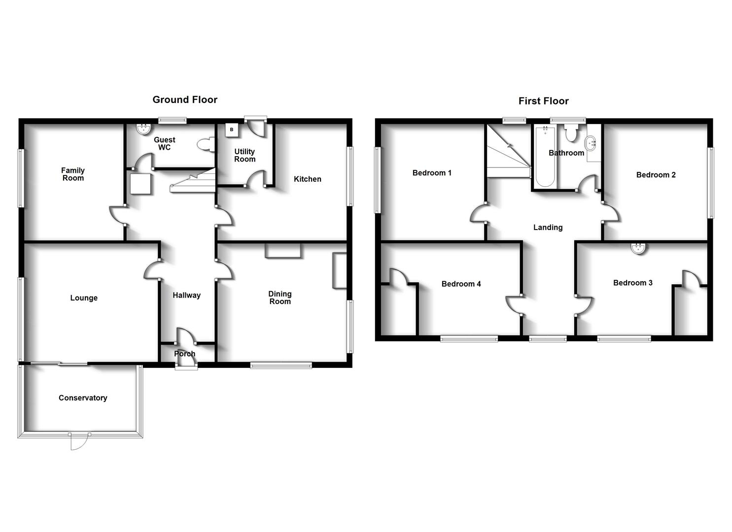 Floorplans For West Winds, Brookside Close, Rugby