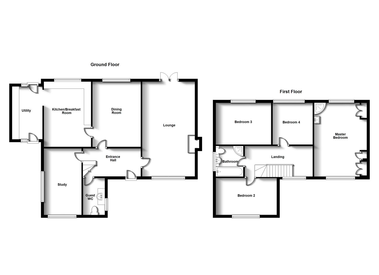 Floorplans For School Lane, Stretton On Dunsmore, Rugby