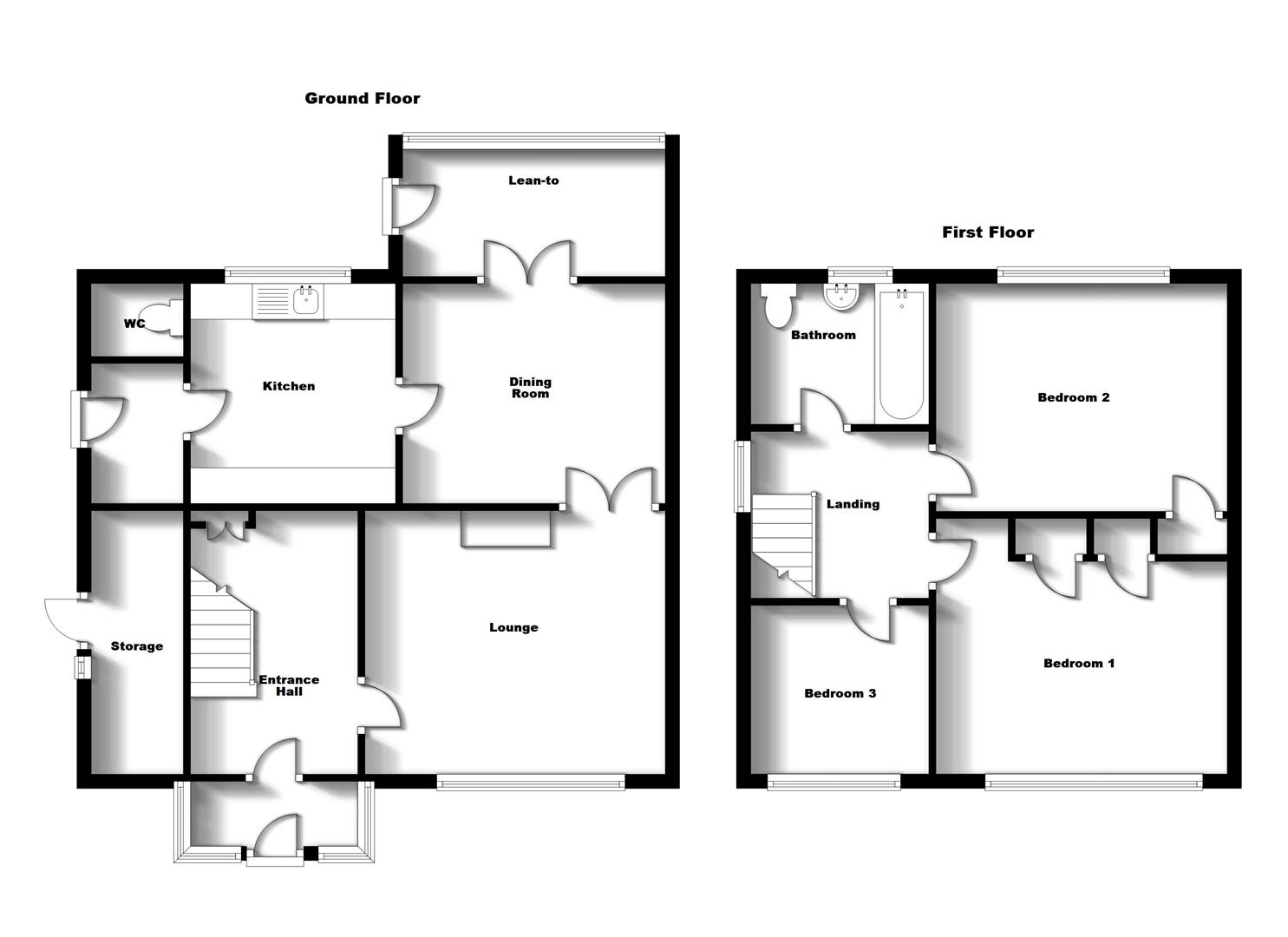 Floorplans For Saunton Road, Rugby