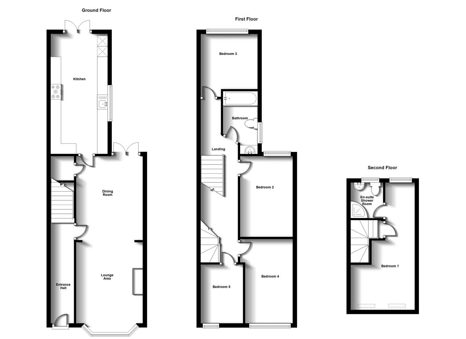 Floorplans For Lodge Road, Town Centre, Rugby