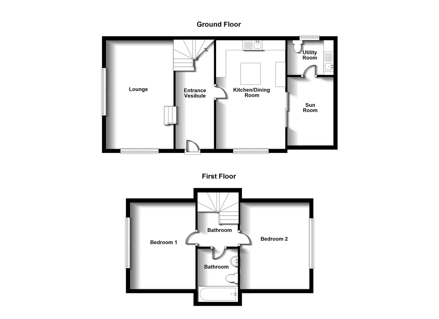 Floorplans For Lower Street, Hillmorton. Rugby