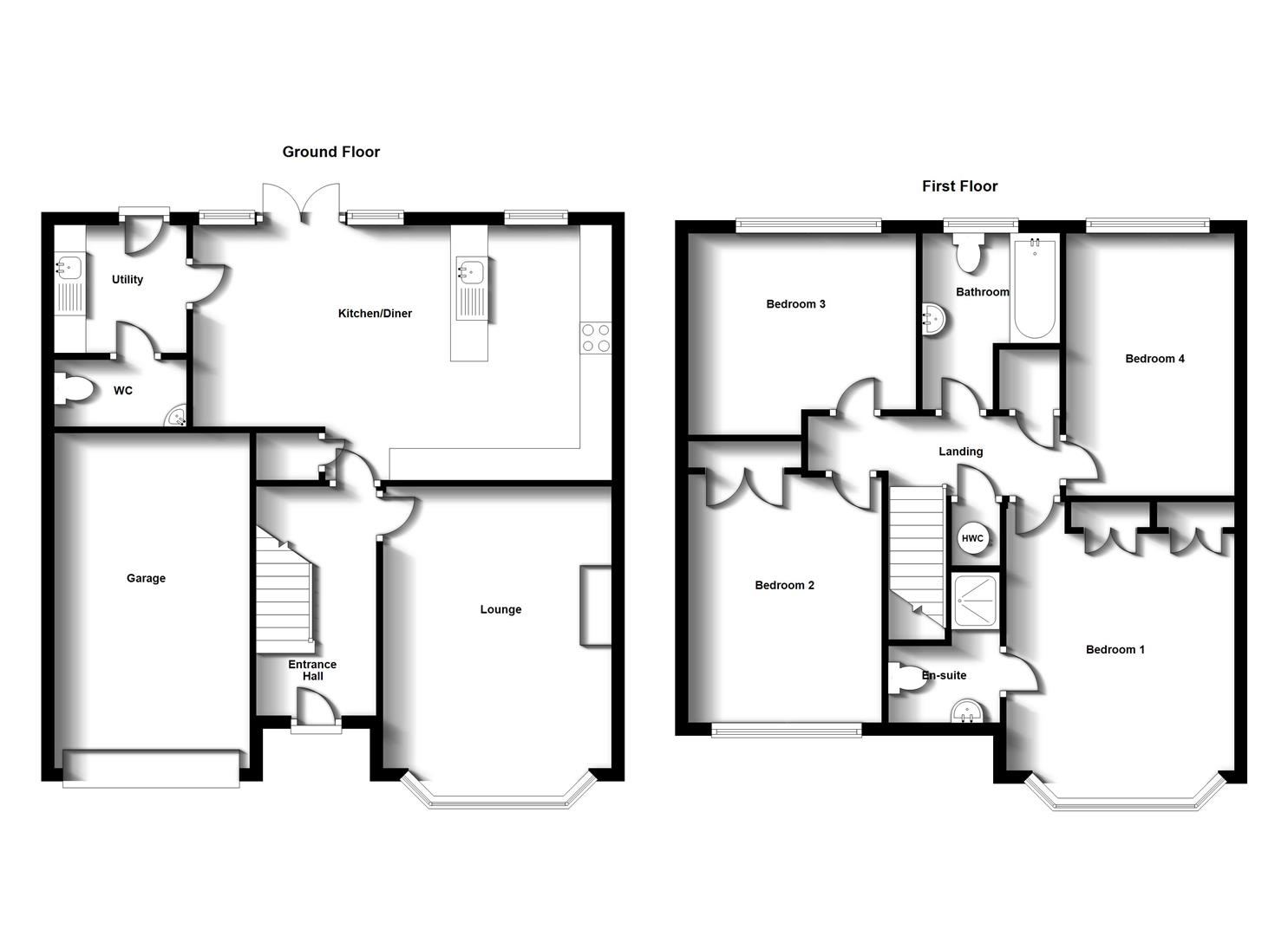 Floorplans For Bronze Road, Cawston, Rugby