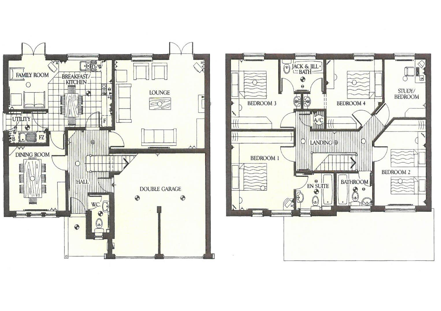 Floorplans For Tennant Close, Hillmorton, Rugby