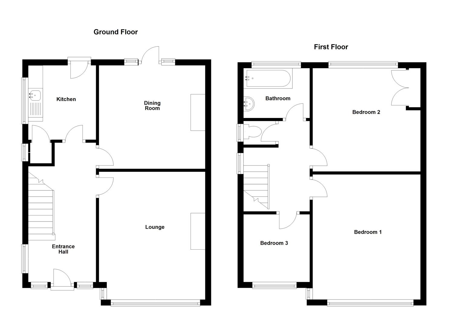 Floorplans For Millfields Avenue, Hillmorton,  Rugby