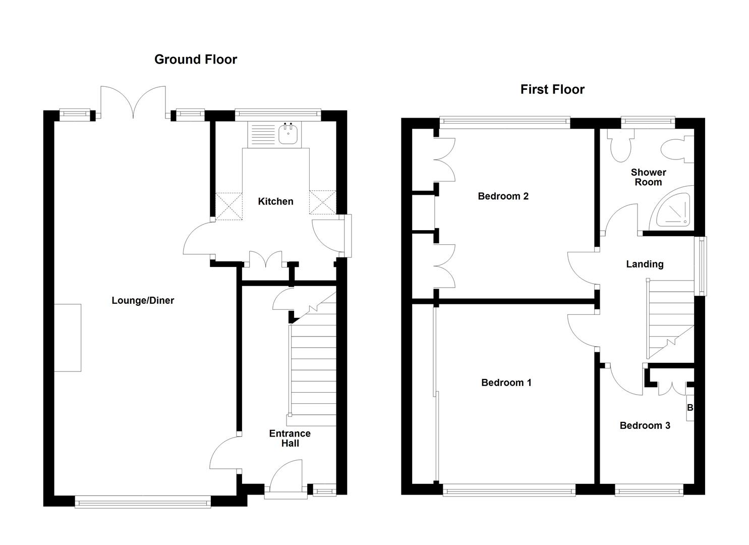 Floorplans For Main Street, Newbold, Rugby