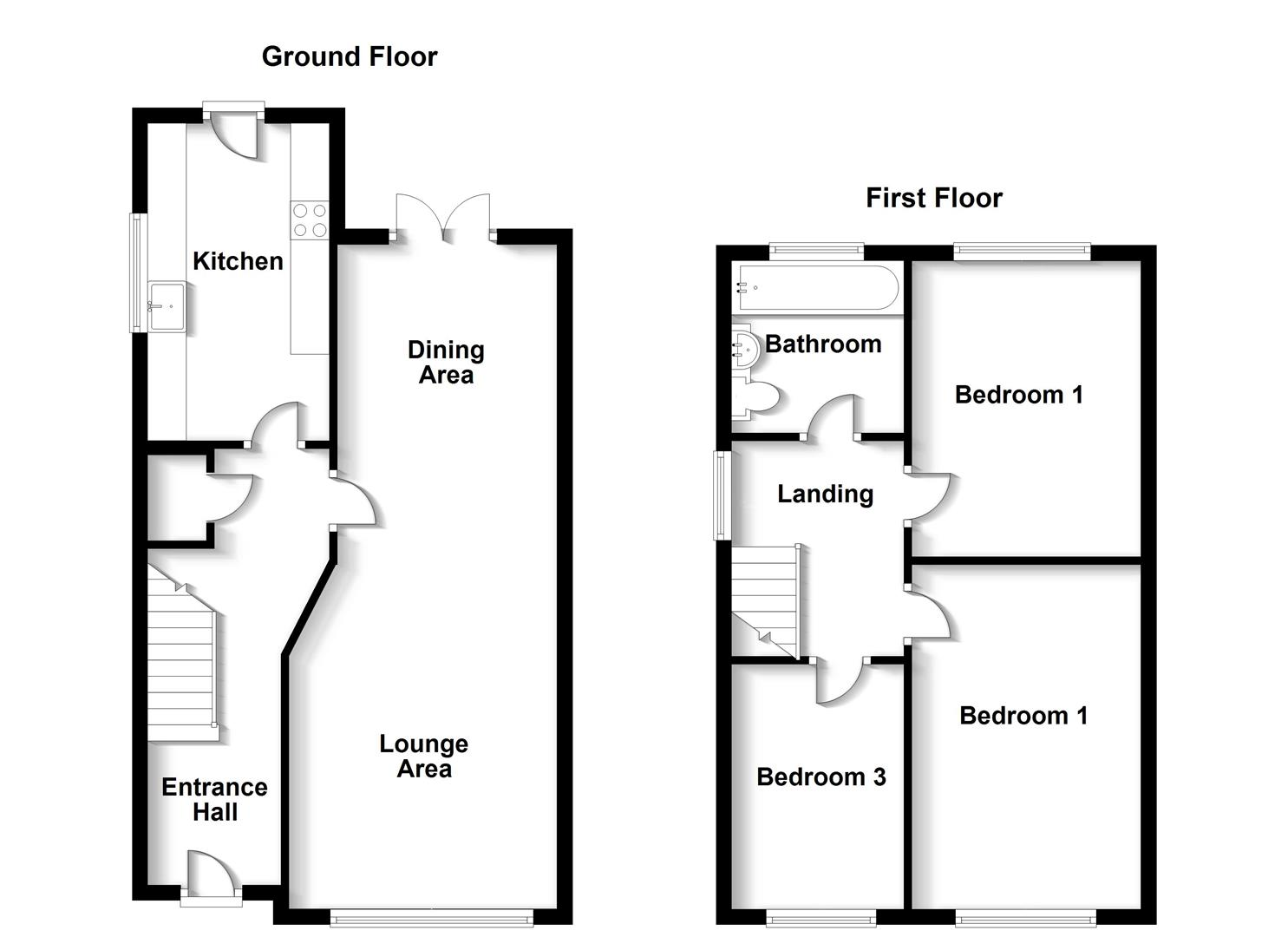 Floorplans For Alwyn Road, Bilton, Rugby
