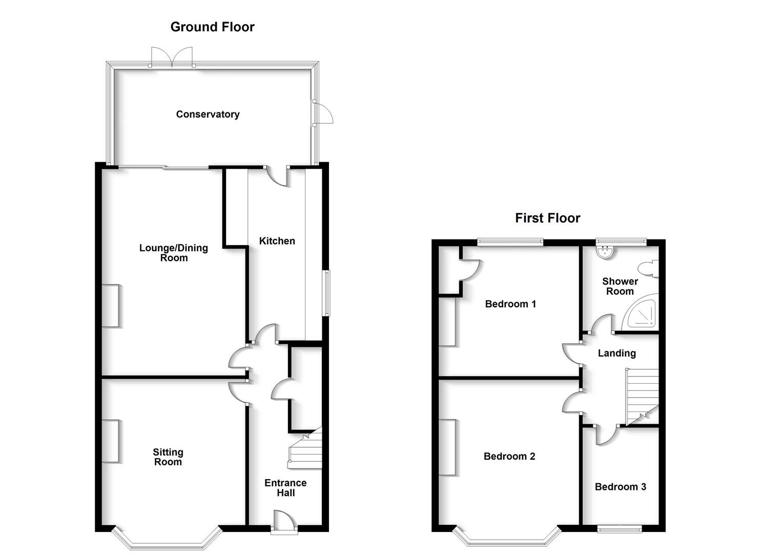 Floorplans For Percival Road, Rugby
